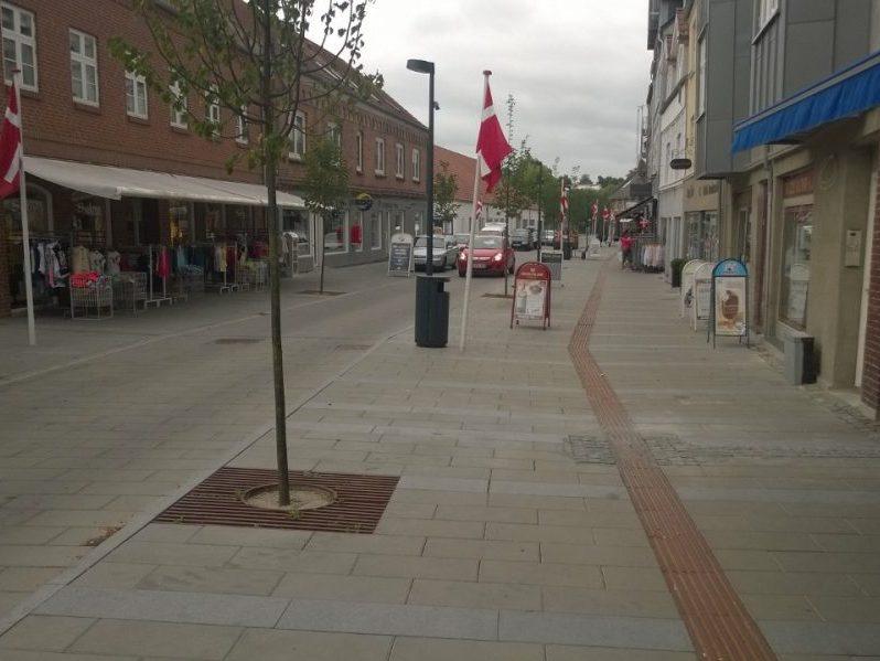 Hadstens Handelsstrøg, Søndergade, Belægning, 2013 (1)