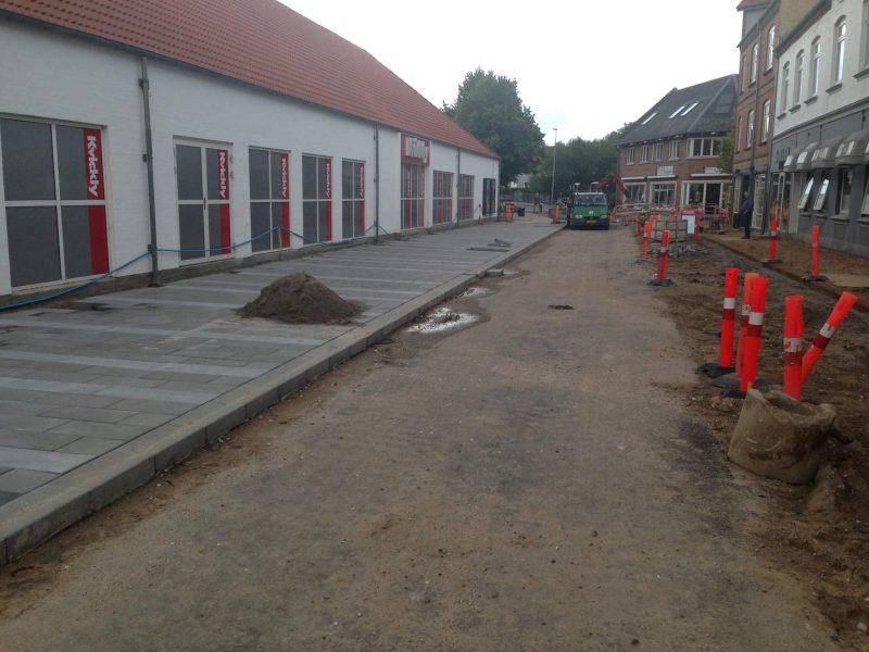 Hadstens Handelsstrøg, Søndergade, Belægning, 2013 (5)
