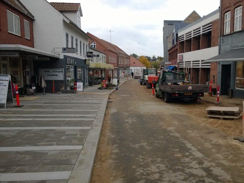 Hadstens Handelsstrøg, Søndergade, Belægning, 2013 (9)